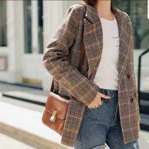 Sag Harbor plaid blazer coat